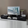 Genie LCD TV Stand Wide In Black High Gloss