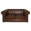 Genuine Leather Antique Chesterfield 2 Seater Sofa