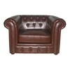 Genuine Leather Antique Chesterfield Chair