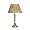 Gold Table Lamp with Fabric Shade