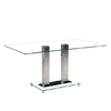 Holly Dining Table Rectangular In Clear Glass With Chrome Legs