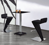 Ice Bar Table in Black with Two BR-216 Black Stools