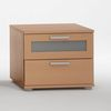 Jack 1 Beech Bedside Cabinet With 2 Drawer