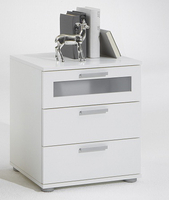 Furnishings & Fixtures  - Jack 2 White Bedside Cabinet With 3 Drawer