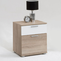 Furnishings & Fixtures  - Jack 3 Oak Finish Wooden Bedside Cabinet With 2 Drawers