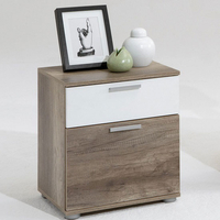 Furnishings & Fixtures  - Jack 3 Wild Oak Finish Wooden Bedside Cabinet With 2 Drawers