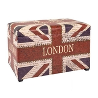 Storage Boxes  - Jack London Colorful Trunk Bench With Storage