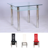 Dining Room Suites Jayzee Clear Glass Dining Table With 2 Manhattan Design Chairs