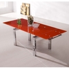 Jessi Red Extendable Dining Table Only