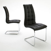 Kai Modern Dining Room Chair in Black Pu Leather