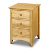 Kendal Natural 3 Drawer Bedside cabinet
