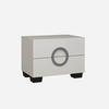 Kennedy Modern Bedside Cabinet In Cashmere High Gloss