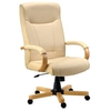Knightsbridge Luxury cream leather faced chair