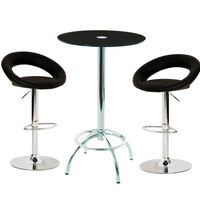 Konix Bar Table With 2 Leoni Black Bar Stools,  95250