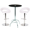 Konix Bar Table With 2 Leoni White Bar Stools,  95250