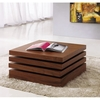 Lia Motion Coffee Table in Walnut Finish