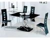 Maze Black Glass Table And 6 D215 Chairs
