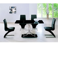 Dining Room Suites  - Maze Black Glass Table And 6 Z Chairs