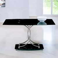 Tables  - Maze Black Glass Table Only