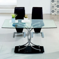 Tables  - Maze Clear Glass Dining Table Only