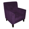 Medan Purple Velvet Accent Chair,  2401998