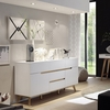 Merina Sideboard In Matt White And Oak With 2 Doors
