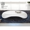 Milania Curved High Gloss Coffee Table In White With Led Lights