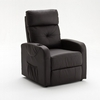 Milano Recliner Chair In Brown PU Leather With Rise Function