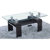 Mina Clear Glass Top Coffee Table With Black High Gloss Base