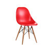 Modern Novelty Chair In Red ABS With Wooden Legs