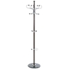 Modern Wooden Coat Stand In Dark Brown