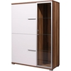 Nevada Floor Standing Baltimore Walnut And White Cabinet