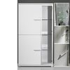Nevada Gloss White 3 Door Entertainment Cabinet,  1520-84