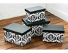 New Set of 4 Glamour Flock Storage Boxes
