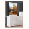Omega 3 Drawer White High Gloss Dresser With Mirror