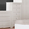 Omega 5 Drawer Chest In High Gloss White