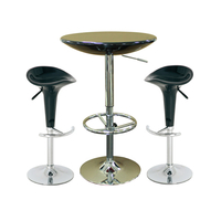 General Furniture  - Orion Black Bar Table with 2 Pazific Black Bar Stools