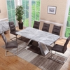 Orion Marble Rectangular Dining Table With 6 Dining Chairs