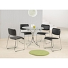 Orkney Clear Glass Round Dining Table Only