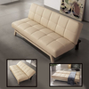 Paris Cream Faux Leather Sofa Beds - OUTSTANDING VALUE