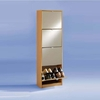 Penny5 Tall Mirrored Shoe Cabinet In Beech