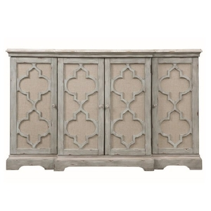 Storage Boxes  - Rabien Storage Cabinet In Weathered Sea Grey With Ivory Accents