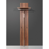 Sandra Walnut Wall Mounted Hallway Stand