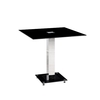 Spectra Dining Table Square In Black Glass With Chrome Base