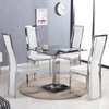 Spectra Glass Dining Table In Black With 4 Collete White Chair
