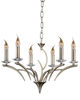 Stag Antique Brass 6 Light Ceiling Light,  1366-6AB