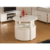 Dining Room Suites Stefan Stowaway White Gloss Round Dining Table And 4 White Stool