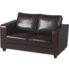Tempo 2 Seater Sofa In A Box Made of Brown Faux Leather