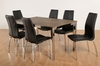Dining Room Suites Tokyo Dining Set With 6 PVC Black Chairs