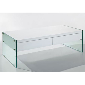 Tables  - Ultimo Contemporary Coffee Table in White
